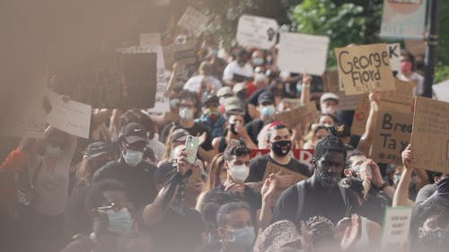 People Joining A Black Lives Matter Rally