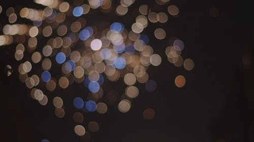 Blurred Footage of Fireworks Display
