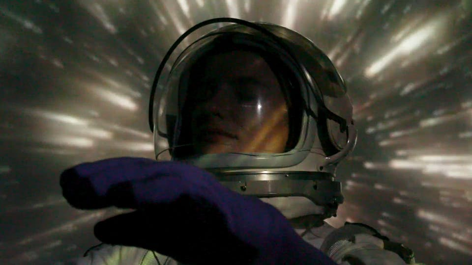 A Woman In A Space Suit
