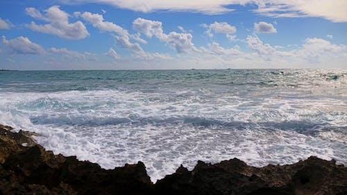 Video of a Waves Crashing on Rocks