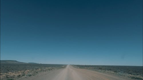 Video Clip of a Road Travel through Countryside