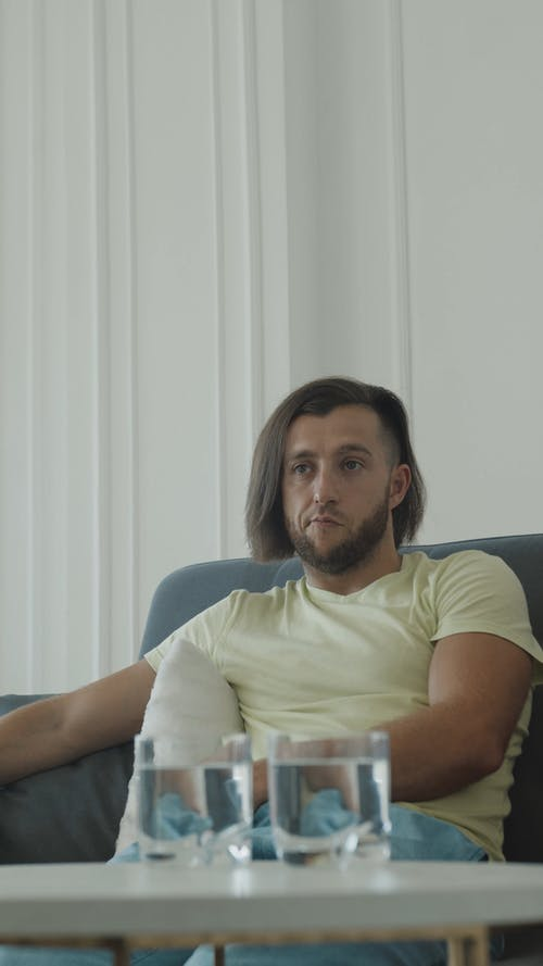 Man Talking in Therapy Session