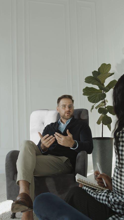 Man Talking to his Therapist