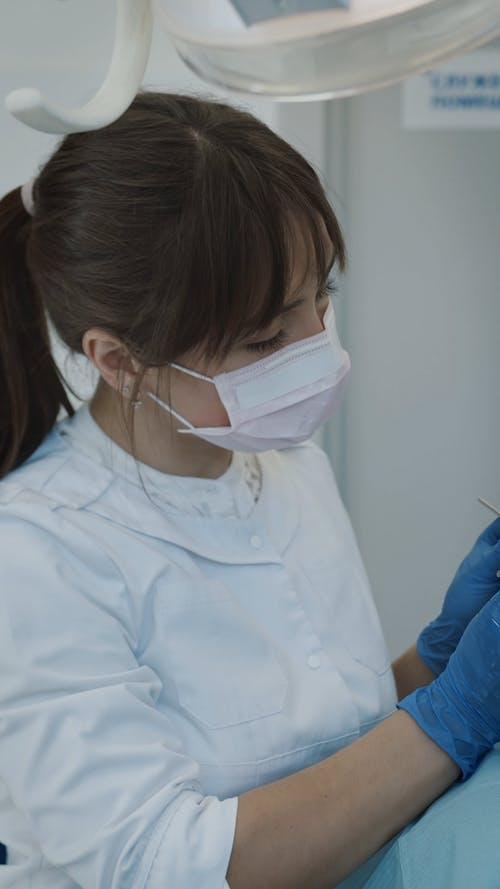 Young Woman at the Dentist