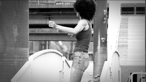 Woman Doing Modern Dance