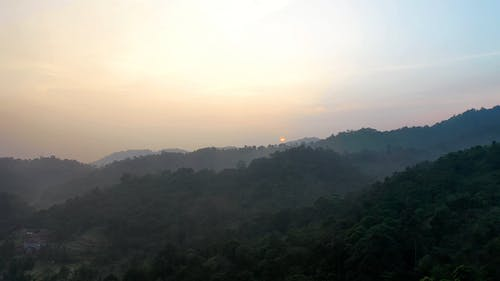 Drone View of Sunrise at the Mountains