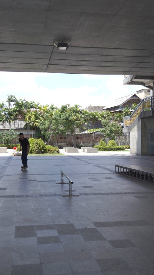 Person Doing a Skateboard Trick