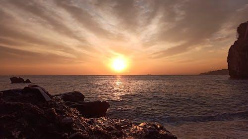 Beautiful Sunset on Beach Horizon