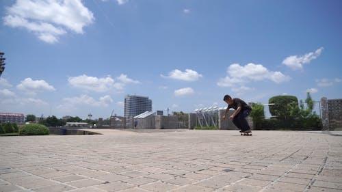 A Man Doing a Skateboard Trick