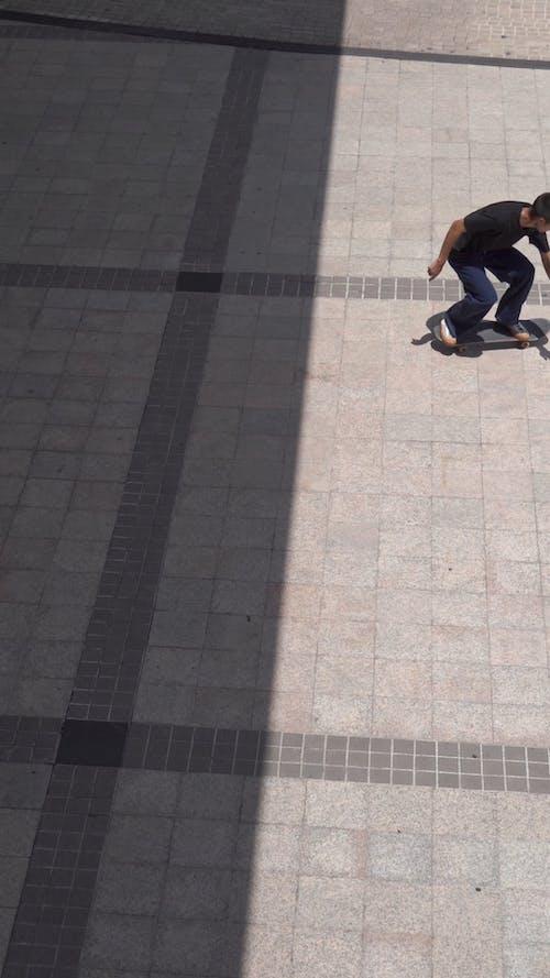 Man Showing His Skateboard Tricks