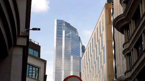 Buildings View Tilt Shot