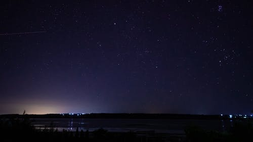 Time Wrap Video of a Night Sky