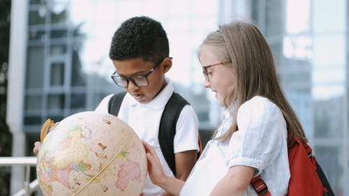 Video Of Children Looking At The Globe