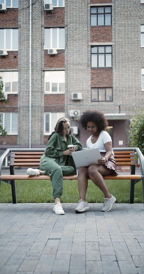 Video Of Women Using Laptop