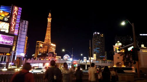 View of the Eiffel Tower in Las Vegas