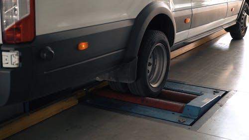 A Vehicle Inside an Auto Repair Shop