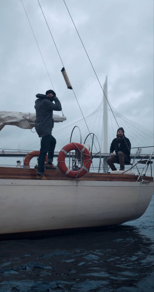 Men Chatting while on a Boat