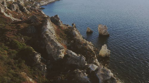 Aerial Footage of Cliff Coasts