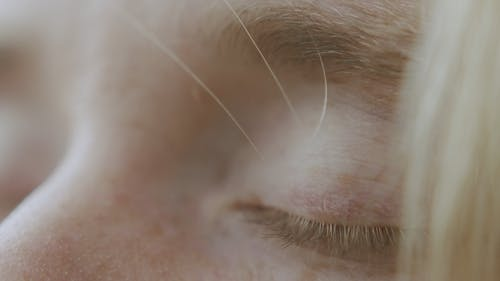 Close-Up Video of a Person's Eyes