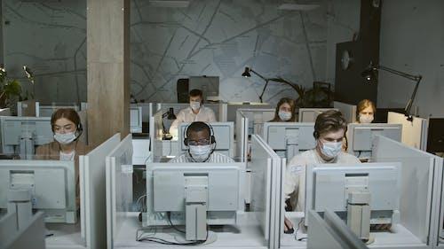 Customer Service Staff Working in Corona Pandemic