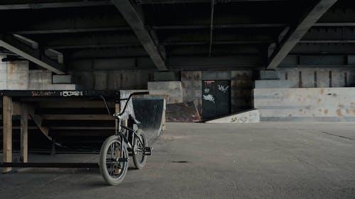 A Man Riding His Bike