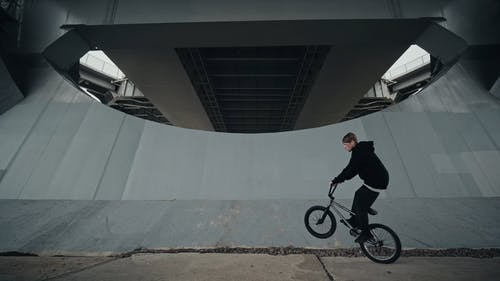 A Man Doing a Trick with His Bike