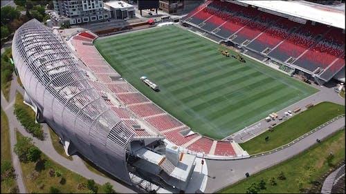 Aerial Video of a Football Stadium