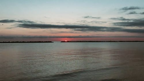 Time-Lapse Video of Ocean View During Sunset