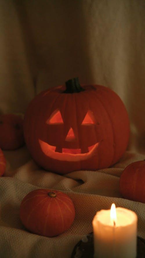 Carved Pumpkin Decoration