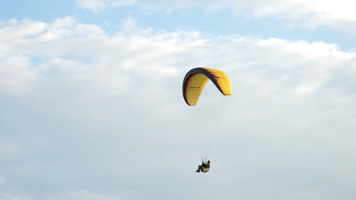 A Person Paragliding in the Air