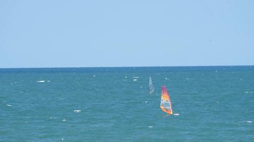 Windsurfing In The Open Sea
