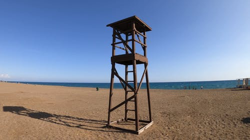 View of Lifeguard Tower on the Beach