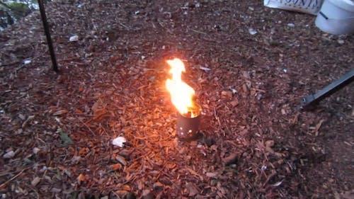 A Burning Camp Stove