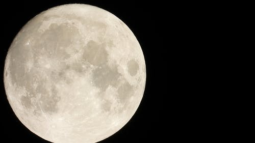 Close-Up View of Full Moon