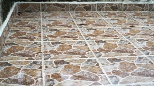 Rainfall on Ceramic Floor Tiles