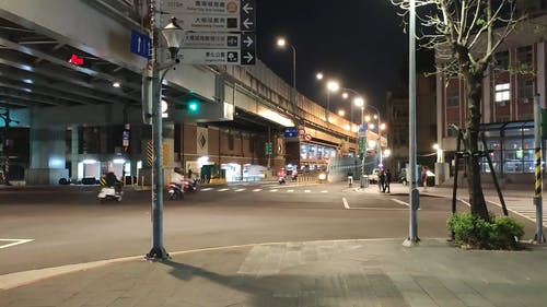 A Busy Road at Night