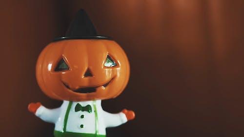 Close Up Shot of a Jack O Lantern Toy