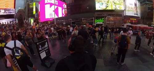 Time Lapse Video Captured at Times Square