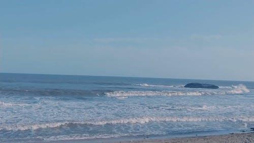 Sea waves Coming to the Seashore
