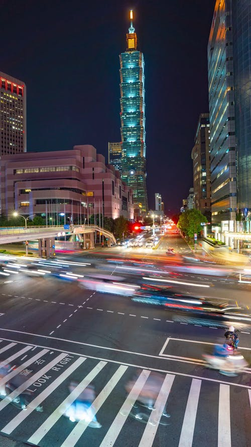 Time-Lapse Video of a City Intersection