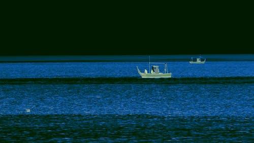 Fishing Boat Sailing on the Sea