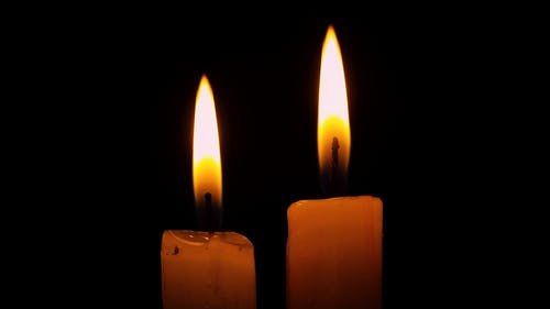 Close-Up Video of Lighted Candles