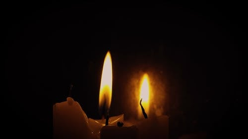 Footage of Candles Dying Out