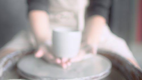 Blurred Shot of a Handmade Pot