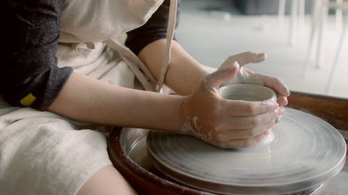 Person Doing a Pottery