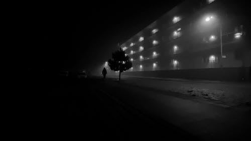 Man Walking in the Dark
