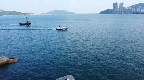 Drone Footage of a Boats Sailing on the Sea