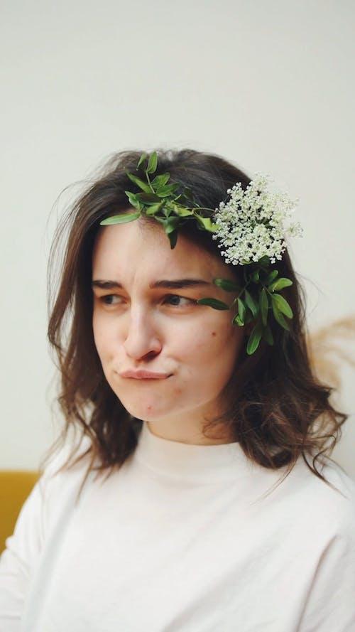 Pretty Woman Making Cute Faces