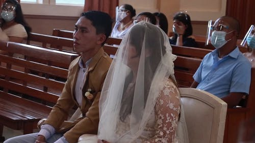 A Couple in a Wedding Ceremony