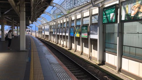 A Train Passing by the Railway Station